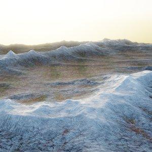 mountains terrain 3D model