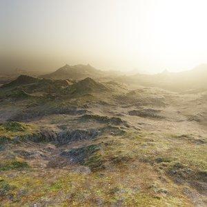 3D mountains 3 model