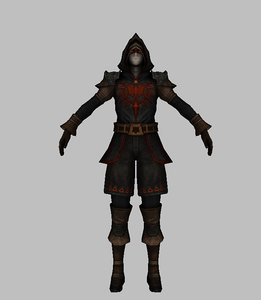 3D character assasian model