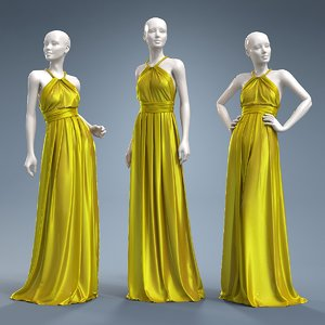 dress cloth mannequin 3D model