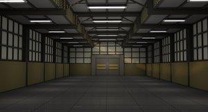 warehouse architecture building 3D