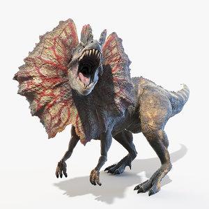 3D dilophosaurus model