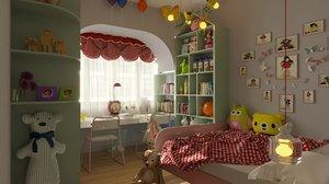 s room child 3D model
