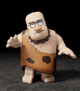 caverman 3D model