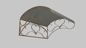 3D wrought iron canopy 1