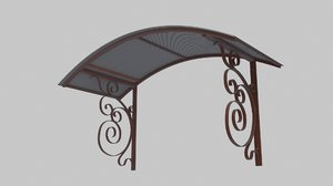 wrought iron canopy 2 3D model