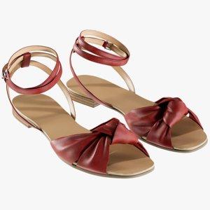3D realistic women s shoes model