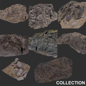 scan mountain stone slope 3D model