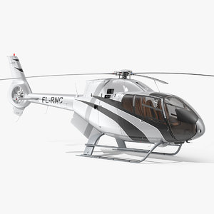airbus h120 lightweight helicopter 3D model