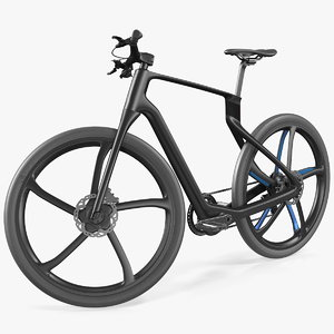 3D carbon electric road bicycle model