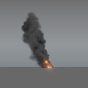 3D model smoke column 01 vdb