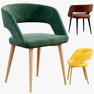 chair walter grey 3D