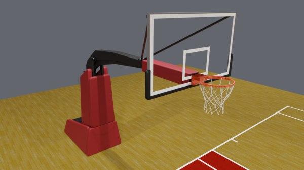 3D realistic basketball basket backboard