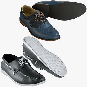 realistic shoes 36 collections 3D
