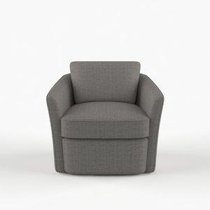 duffield swivel lounge chair 3D model