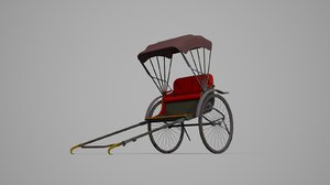 3D transport rickshaws model