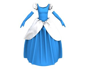 3D model princess costume