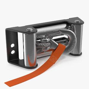 3D winch roller box hook