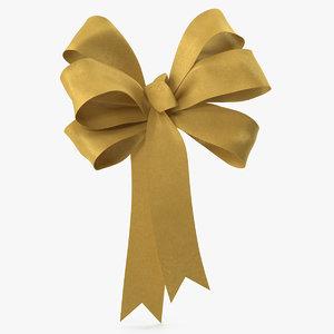 gold bow v 2 3D