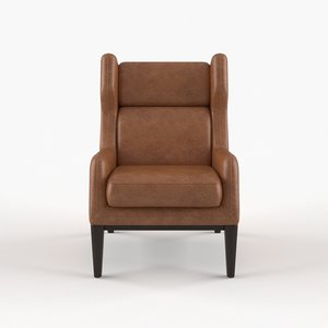 3D ryder leather lounge chair
