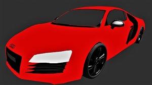 3D audi e-tron r8 model