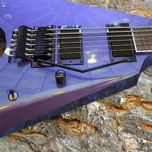 3D model guitar arrow-1000 violet andromeda