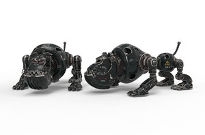 3D robot dog cyborg
