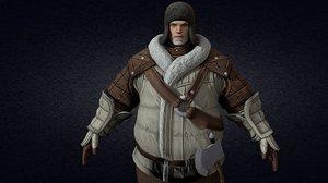 medieval citizen 3D model