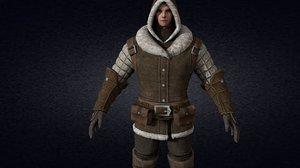 3D medieval citizen