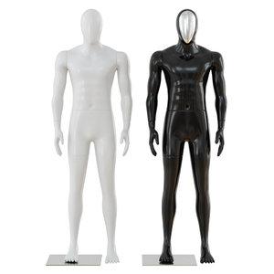 white black male mannequins 3D model