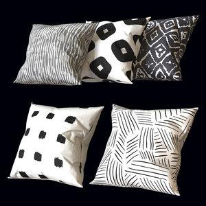 3D set pillows model