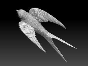 3D model birds art sculptures
