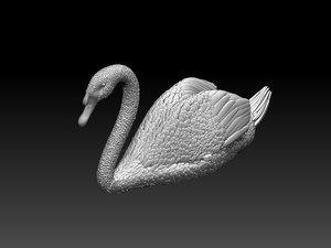 3D swan birds art