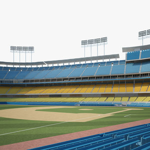 3D stadium dodger model