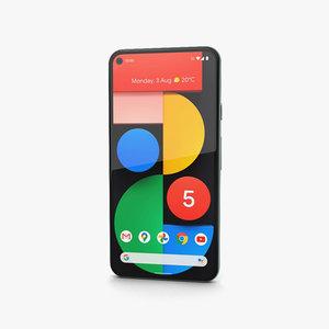 3D google pixel 5 model