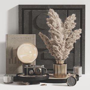 3D decorative set pampas