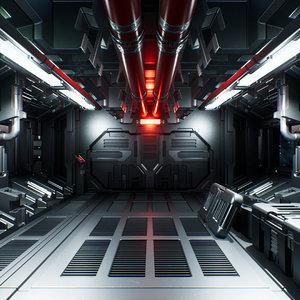 modular sci-fi interior ii 3D