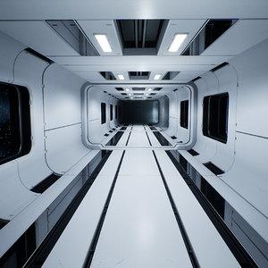 3D modular sci-fi interior