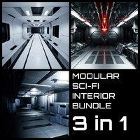 Modular Sci-Fi Interior Bundle