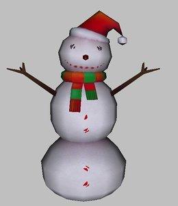 s snow man 3D model