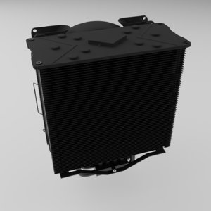 pccooler gi-x6b cooler 3D model