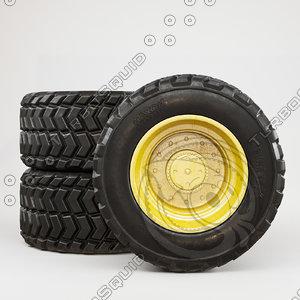wheel dirt 3D