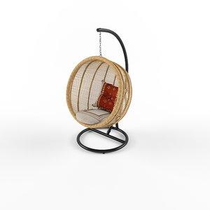 3D hampstead hanging nest chair