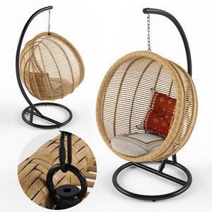 3D hampstead hanging nest chair