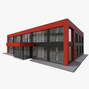 3D office store building model