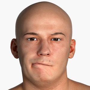 real pbr human head 3D model