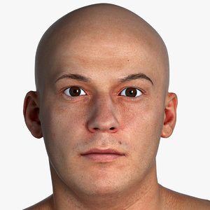 3D pbr marcus real human head