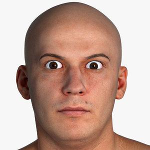 pbr marcus real human head 3D model