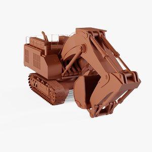 3D hydraulic excavator
