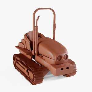 lawn tractor 3D model